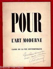 Pour L'Art Moderne Cadre de la vie Contemporaine 1934 U.A.M. Dedicace Cheronnel