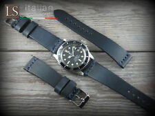 Cinturino in Pelle Bufalo Vintage ILLINOIS 20 mm Watch Strap Band Blu
