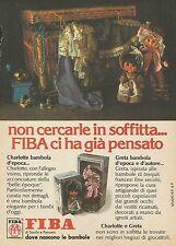 X7607 Charlotte bambola d'epoca - FIBA - Pubblicità del 1977 - Advertising