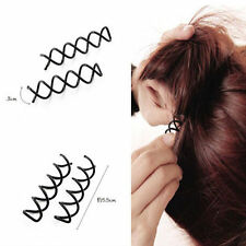 SPIRAL SPIN SCREW PIN HAIR BEAUTY STYLE UP-DO CLIP TWIST BARRETTE BLACK NEW