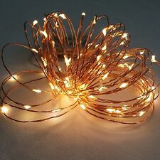 AA Battery 4M 40 LEDs Warm White Christmas Copper Wire String Fairy Lights Lamp