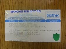 30/11/1994 Ticket: Manchester City v Newcastle United [Football League Cup] (fol