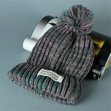 Women Knit Winter Warm Hat Beanie Ball Wool Peaked Crochet Cap