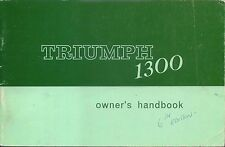 Triumph 1300 1967 Original Owners Handbook 1965-1967  No. 512901 6th ed.