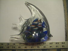Beautiful Decorative Handcrafted Glass TROPICAL FISH Desk Paperweight