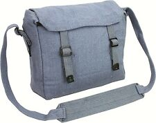 Reclaimed Vintage Style Canvas Webbing Military  Messanger Side Bag Satchael