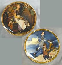 """2 Norman Rockwell collector plates, """"Rediscovered Women"""" collection by Knowles"""