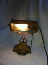 Vtg Lamp ART DECO 1920S Bankers Piano Desk Table Office Pull Chain Classic