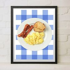 Ron Swanson Breakfast Poster Bacon Eggs Parks and Recreation New Prop Gift Art