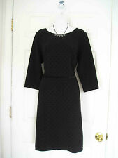 $130 NWT TALBOTS BLACK PONTE POLKA DOT WASHABLE SHEATH DRESS 22W 3X