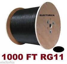1000 RG-11 COAXIAL CABLE WIRE HD TV RG11 SATELLITE ANTENNA COAX BURIAL HDTV RG6