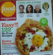 Food Network Magazine April 2012 Easy 122-No Fuss Recipes Grilled Cheese, Ham