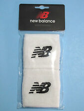 New Balance Wristbands Sweatbands Embroidered NB Logo White 2/Pkg Unisex NIP
