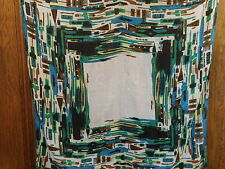 "Vince Camuto Blue Green Large 40"" Square Sheer Wrap Scarf"