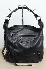 Balenciaga The Classic Day Black Hobo Shoulder Bag Used Authentic w/ Mirror