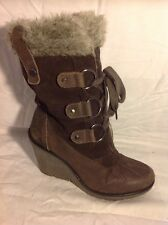 Office London Brown Ankle Leather Boots Size 39