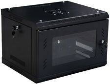 Network Server Data Cabinet 6U Wall Mount Enclosure Rack Glass Door Lock