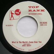 JACK SCOTT What In the World's Come Over You CANADA 1959 TOP RANK Rockabilly 45