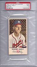 1954 Johnston Cookies Braves # 35 Robert Keely NM PSA 7
