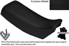 BLACK STITCH CUSTOM FITS SUZUKI TSX 125 85-88 LEATHER DUAL SEAT COVER ONLY