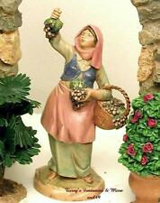 "FONTANINI DEPOSE ITALY 5"" CARMI w/GRAPES NATIVITY VILLAGE FIGURE 52504 NIB"
