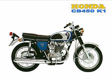 HONDA Poster CB450 1968 1969 and 1970 K1 Suitable to Frame