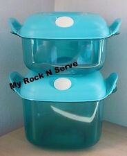 Tupperware Heat N Serve Microwave Container Set 2 NEW !!!