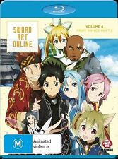 Sword Art Online Vol. 4 Fairy Dance Part 2 (Eps 20-25) Blu-ray Discs NEW
