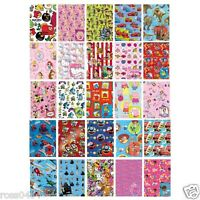 Wrapping Paper + Gift Tag Childrens OFFICIAL Christmas Xmas Birthday Wrap Adults