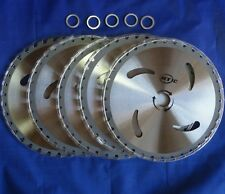 """5 pk CARBIDE Tip 10"""" Brush Cutter Trimmer Blades 40 T w/ 1"""" or 20mm Bore Washer"""