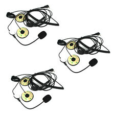 Hot 3Pcs 2Pin PTT MotorHelmet Headset Microphone for BAOFENG Retevis WOUXUN TYT
