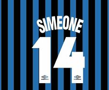 Simone 14 Inter Milan 1997-1998 Home Football Nameset for shirt