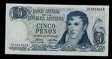 ARGENTINA  5  PESOS  ( 1974-76 ) B PICK # 294  UNC LESS.