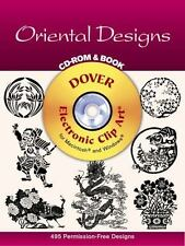 Oriental Designs CD-ROM and Book (Dover Electronic Clip Art)-ExLibrary