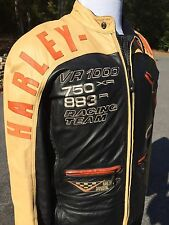 Vintage Rare Harley Davidson VR1000 Racing Leather Jacket Men's Large