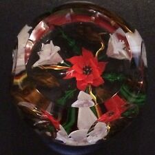 "Must See Caithness Poinsettia ""Fleur Rouge"" Paperweight Artist's Proof"