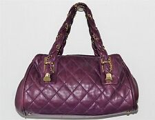 Chanel Purple Quilted Lady Braid Leather Shoulder Bag