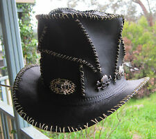 HARD ROCK / HEAVY METAL / ROSES AND GUNS ROCK GOTHIC TOP HAT W. RANDOM STITCHING