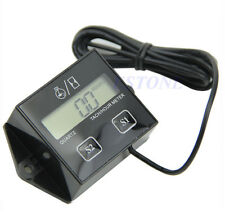 Engine LCD Digital Tach Spark Plugs Gauge Motorcycle Bike Hour Meter Tachometer
