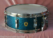 RARE 1959 LUDWIG BUDDY RICH BLUE SPARKLE SUPER CLASSIC SNARE DRUM for SET #M623