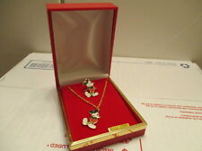 VINTAGE DISNEY MICKEY MOUSE NECKLACE  WITH RING SET WALT DISNEY PRODUCTIONS