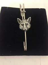 "Fox Head R160 Pewter Emblem Kilt Pin Scarf or Brooch 3"" 7.5 cm"