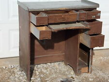 Antique 7 Drawer Watchmaker's Jeweler's Work Bench desk For watch / clock repair