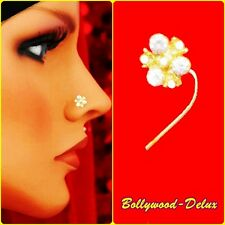 Bollywood Strass Nasenstecker Nasen Piercing Blume Indien Nath Model N-28