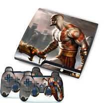 GOD OF WAR Skin Sticker Cover Set for PS3 Playstation 3 Slim Console