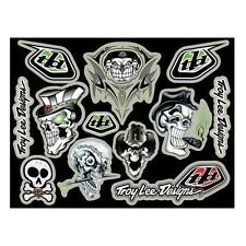Troy Lee Designs TLD Skullies Stickers Sheet Decals Skull Graphics