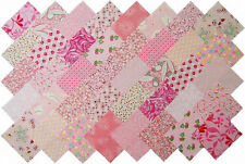 """40 4"""" Fabric Squares PINK 20 Patterns Quilting Charms"""