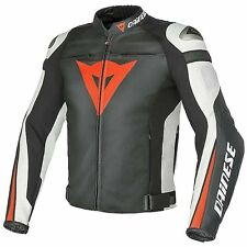 NEW Dainese Super Speed C2 Leather Jacket MENS Black/Red/White