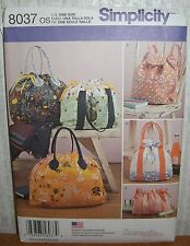 Fashion Accessories Purses Hand Bags Totes Sewing Pattern/Simplicity 8037/UCN