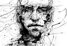 A4 Poster-Horror Gótico boceto de un hombre de la cara (impresión de foto Arte Dibujo)